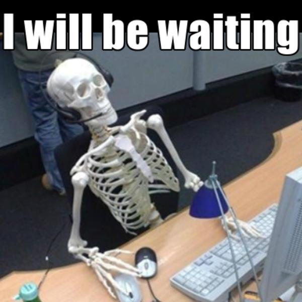 skeleton chair coffee lafuma zero gravity waiting | know your meme