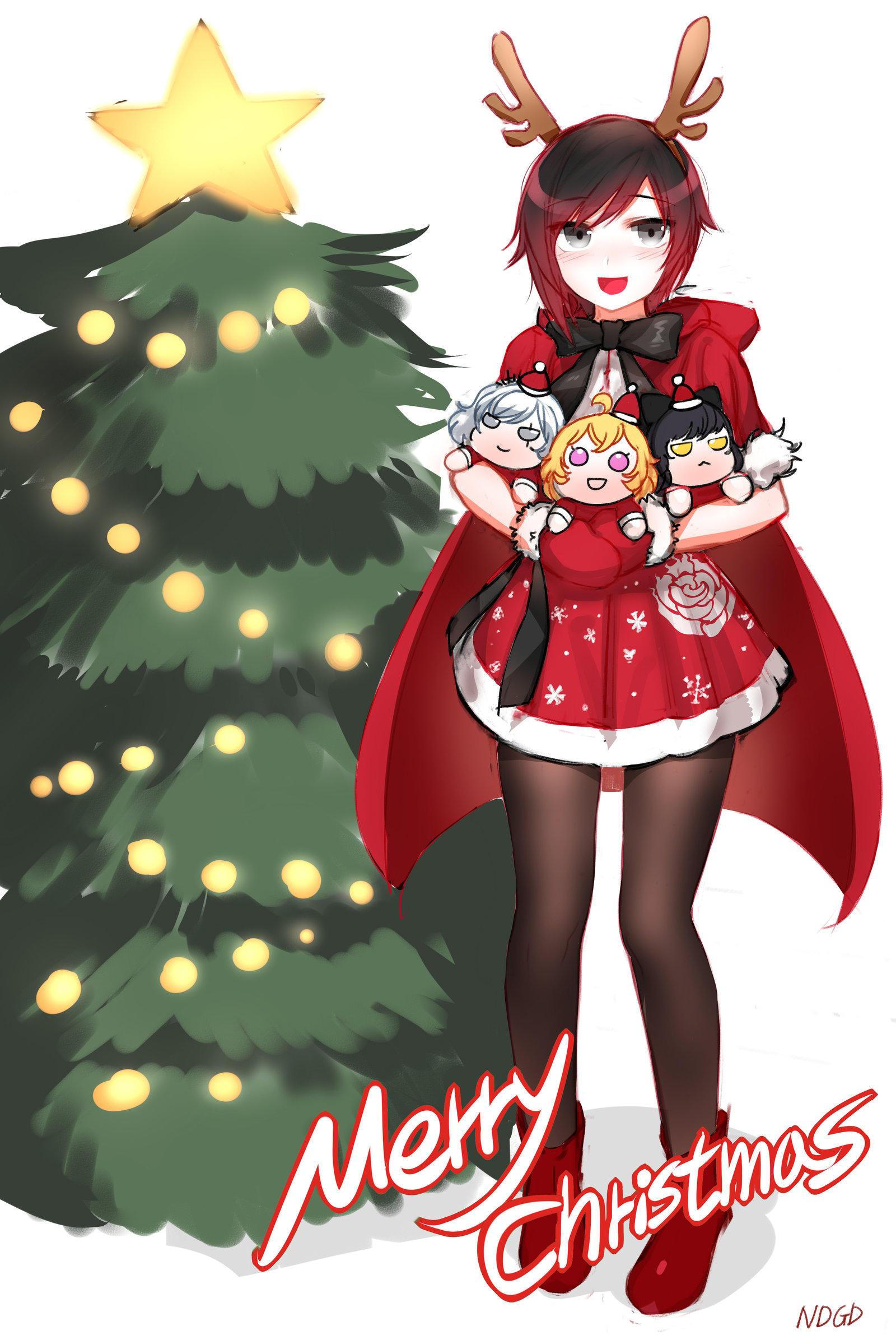 Naruto Team 7 Wallpaper Cute Merry Christmas Rwby Know Your Meme