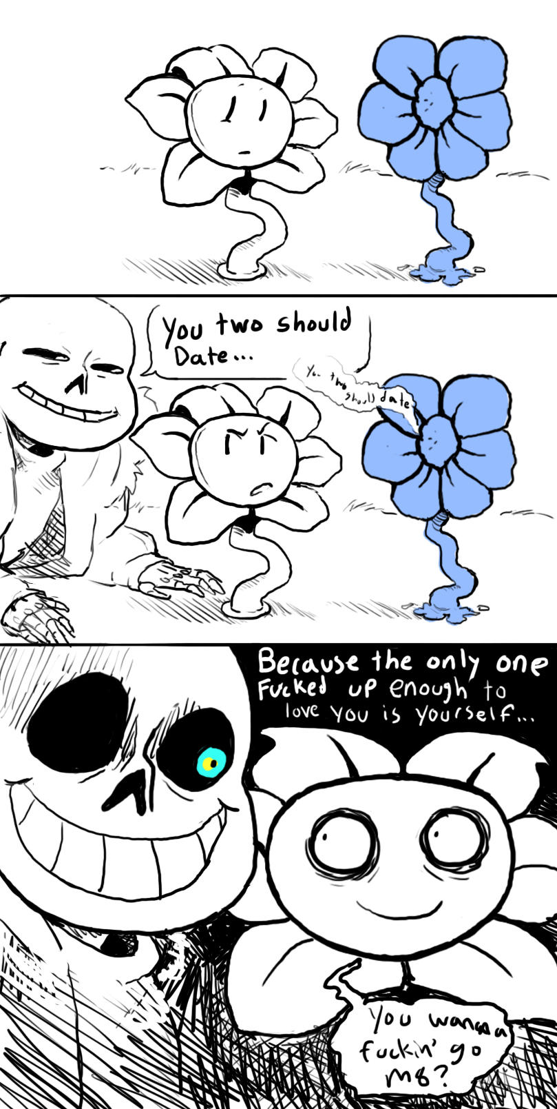 What Sans thinks about Flowey  Undertale  Know Your Meme