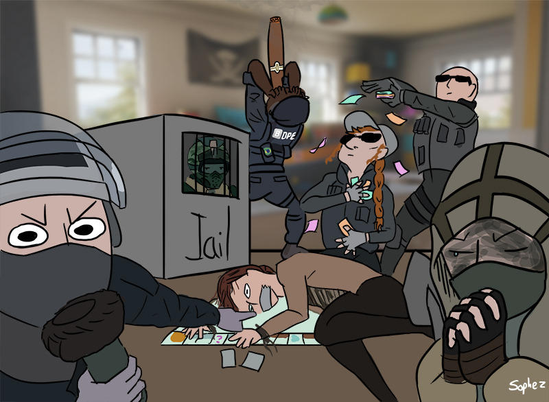 Drawing Six Mute Siege Rainbow