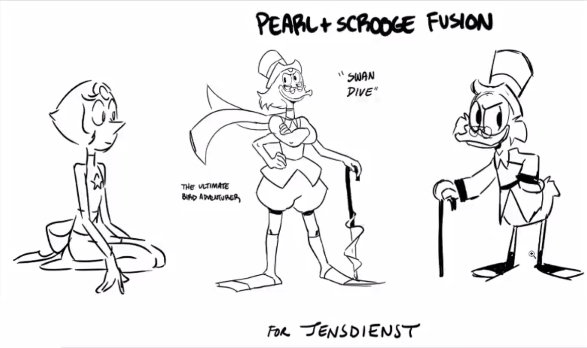 Pearl + Scrooge McDuck Fusion from drawing stream with