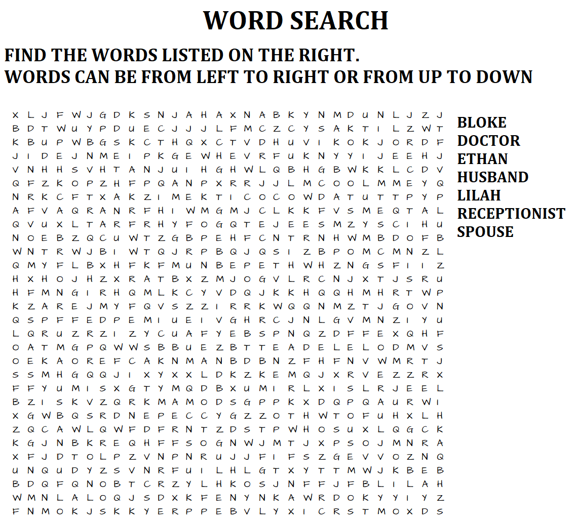 Word Search Not As Hard As It Looks