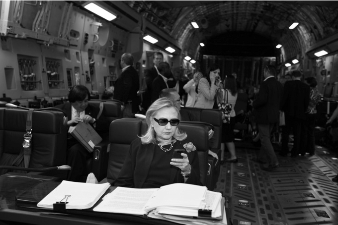 Texts from Hillary original by TIME photographer Diana Walker