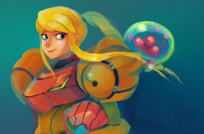 Image result for samus and baby metroid