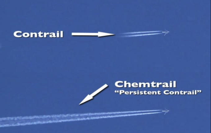 """Contrail Chemtrail """"Persistent Contrail"""""""