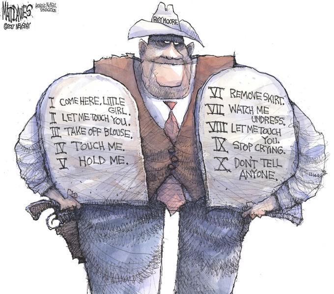 Roy Moore Political cartoon