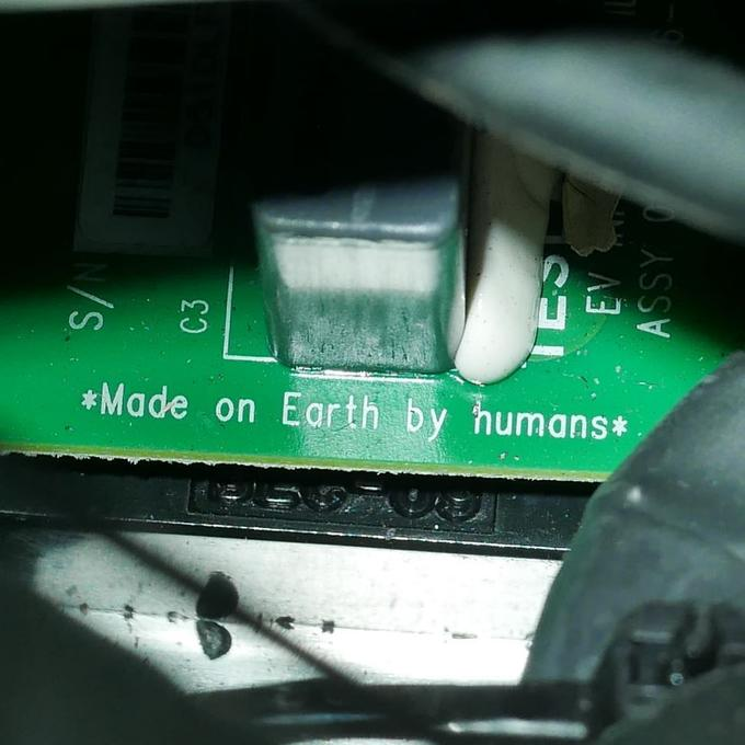 *Made on Earth by humans* green technology electronics motor vehicle