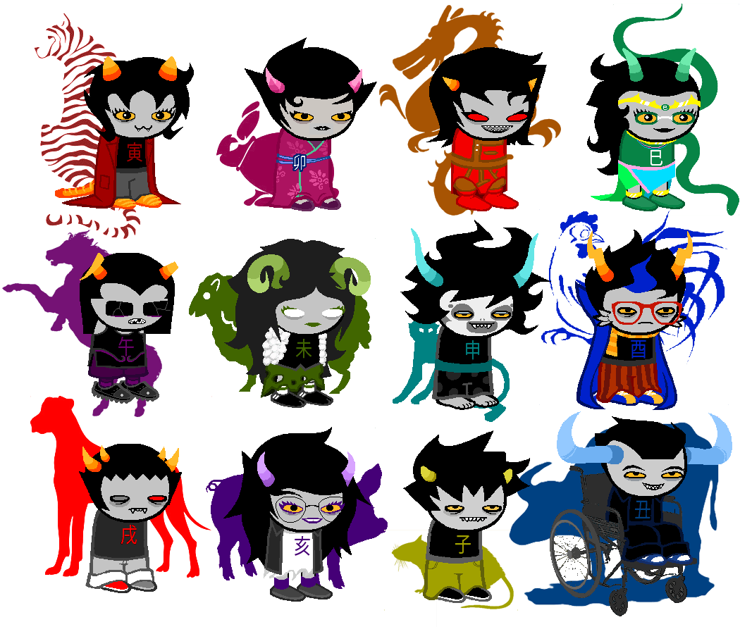 Sprite All Characters Homestuck