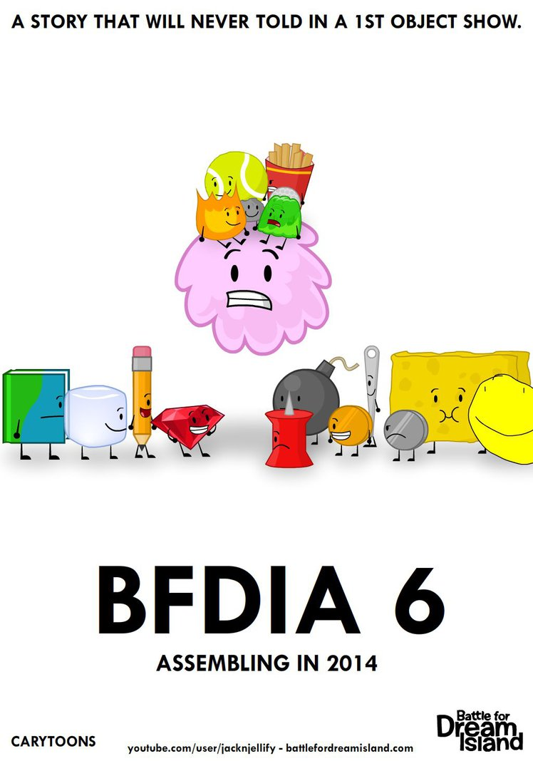 BFDIA 6 Fanmade Poster Battle For Dream Island Know