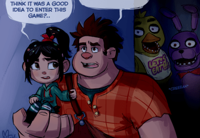 Wreck It Ralph And Five Nights At Freddy S Crossover