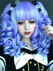 blue hair pastel goth
