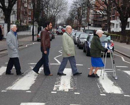 Abbey Road And Elders Abbey Road Parodies Know Your Meme