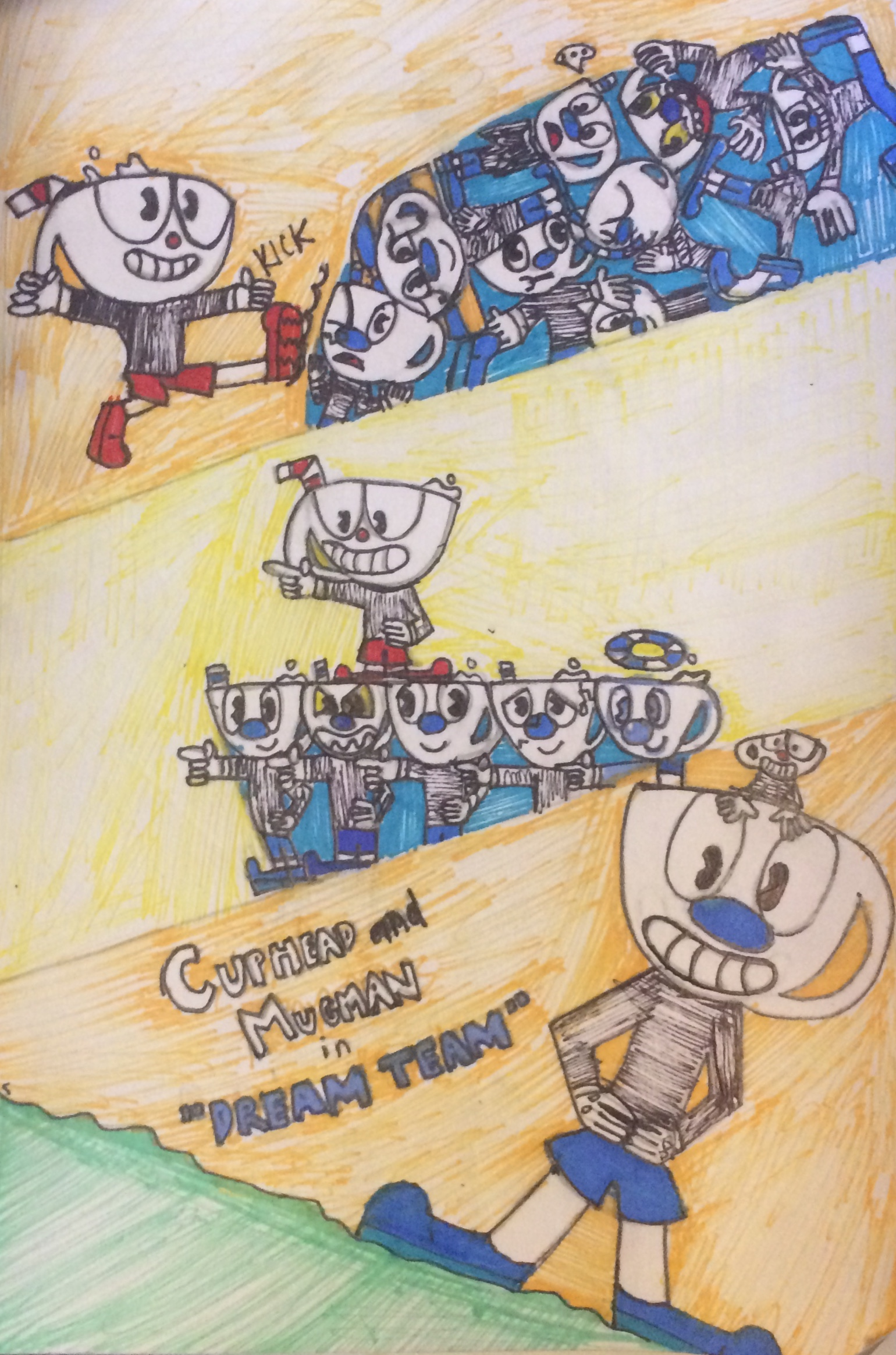 Overwatch Girl Fanart Wallpaper Cuphead Amp Mugman Dream Team Cuphead Know Your Meme
