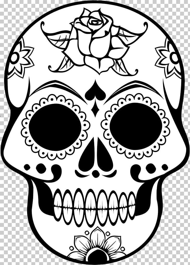 Calavera día del cráneo muerto libro para colorear mandala