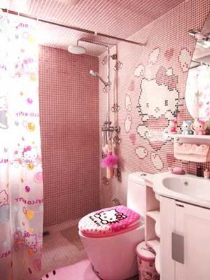 kitchen wall phones sink designs hello kitty的粉色之家_尚品频道_新浪网