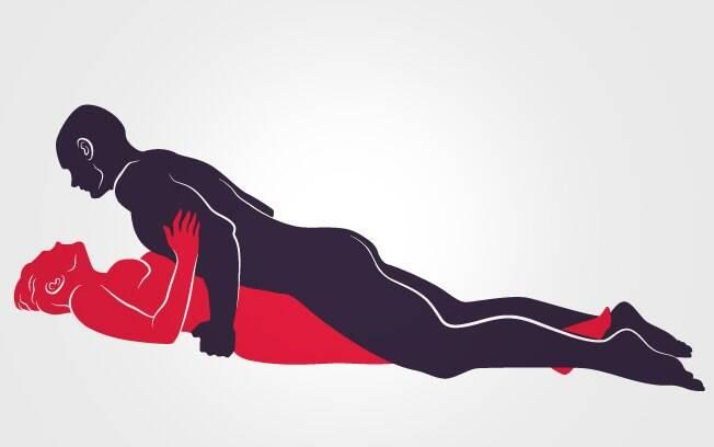 POUSO RELAXADO: Ela deita com as pernas bem fechadas, ele vem por cima e massageia o pênis roçando no corpo dela. Foto: Renato Munhoz (Arte iG)