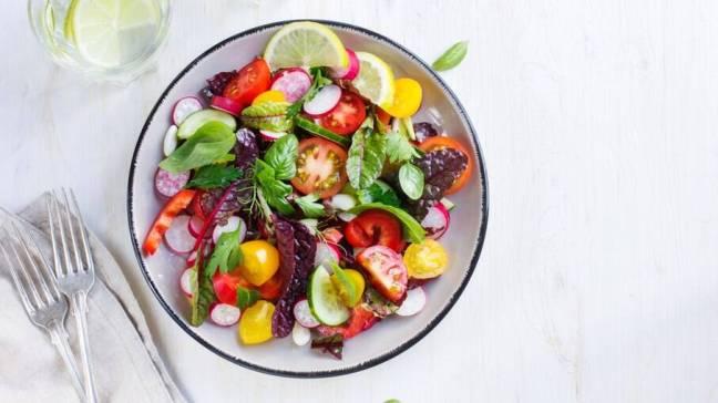 foco em alimentos saudáveis