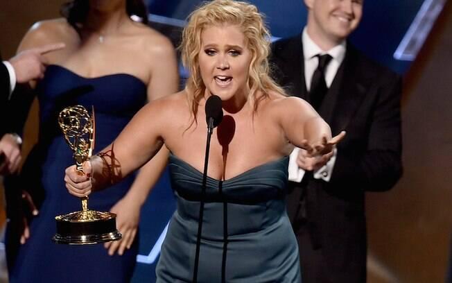 Amy Schumer ganhou o prêmio de melhor roteiro em programa de esquetes . Foto: Getty Images