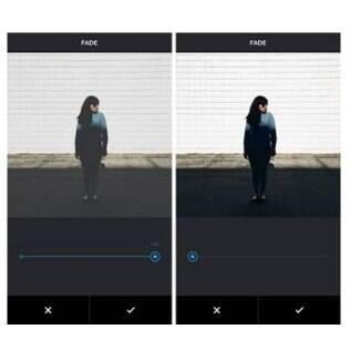 Esmaecer permite adicionar às fotos cores mais leves, de forma a suavizar a imagem e criar um efeito de filme antigo