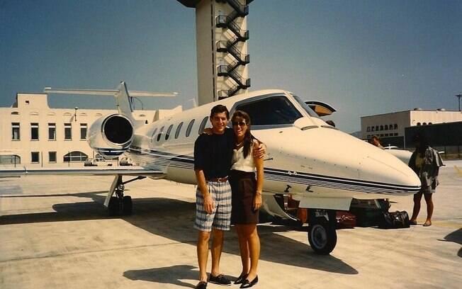 Senna e Adriane juntos em foto inédita
