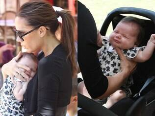 Victoria Beckham vai com a filha mais nova ao shopping
