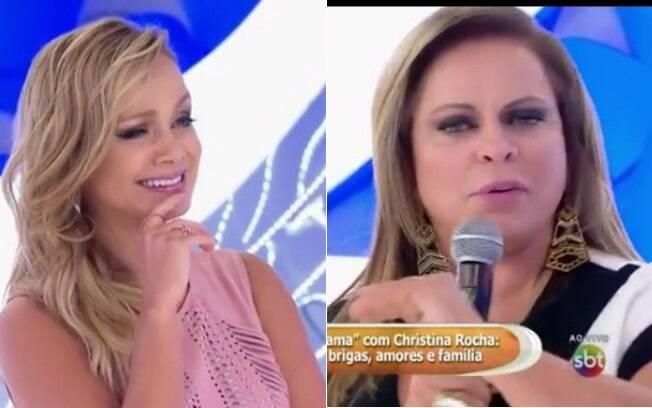Eliana constrangida com as revelações de Christina Rocha