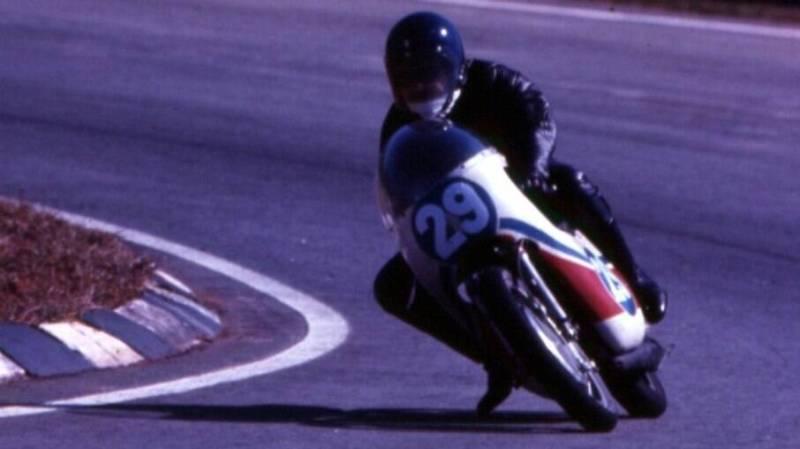 Expedito Marazzi e a Yamaha TZ 350 de Eugênio Handa