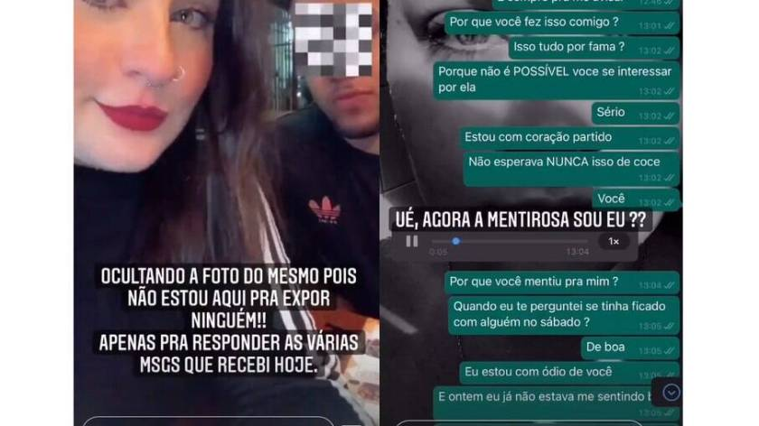 Izabelle Branquinho shares screenshots of supposed conversations with the entrepreneur on WhatsApp