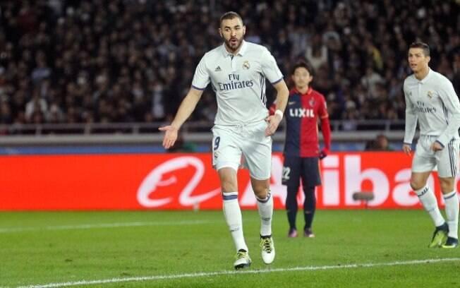 Benzema abriu o placar da final do Mundial de Clubes aos 8 minutos de jogo