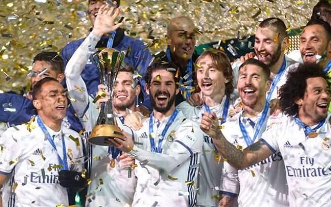 Real Madrid comemora título do Mundial de Clubes