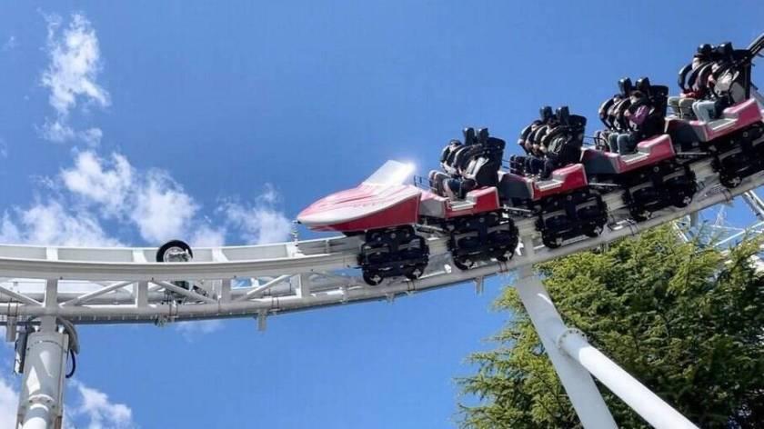 Do-Dodonpa roller coaster at Fuji-Q Highland Park, Japan
