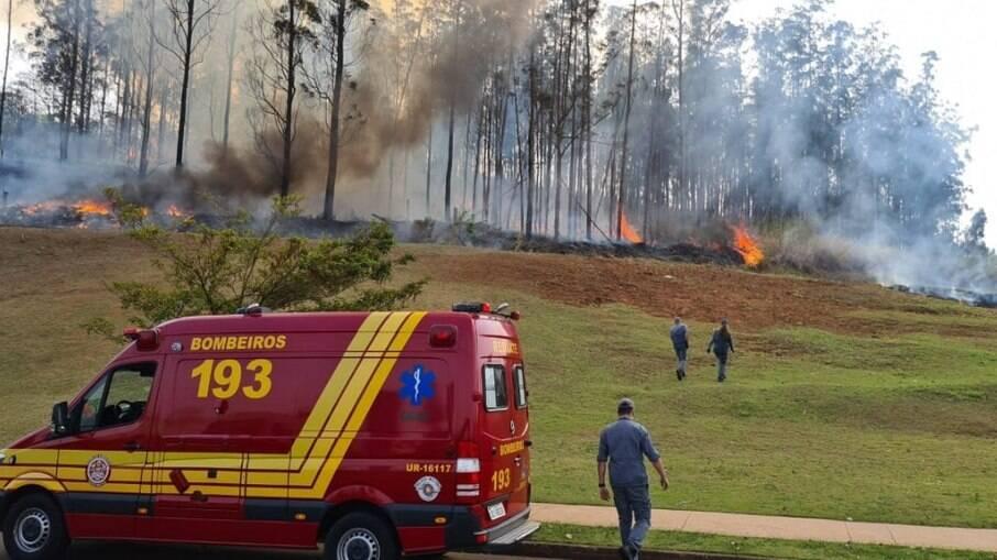 Segundo o Corpo de Bombeiros, seis viaturas no local localizaram quatro vítimas