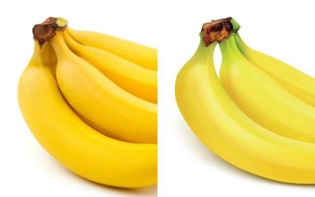 A cor do caule da banana pode indicar se ela está madura ou não