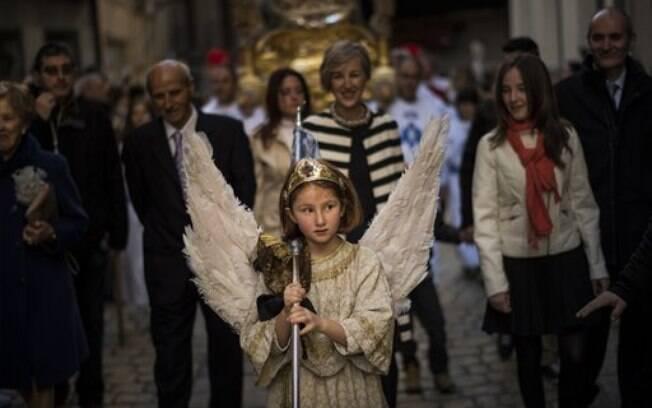 Cristãos celebram a Páscoa na Espanha. Foto: AP Photo/Alvaro Barrientos