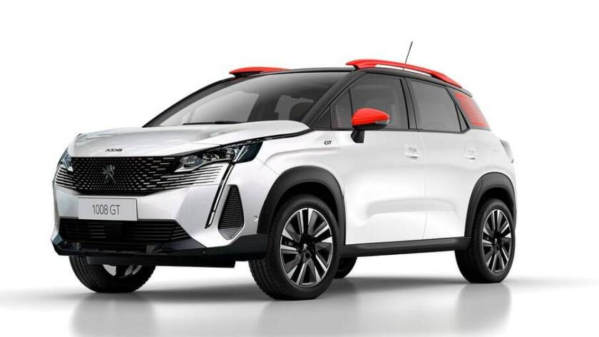 Visual preview of the Peugeot 1008, which will be launched in Brazil in 2025