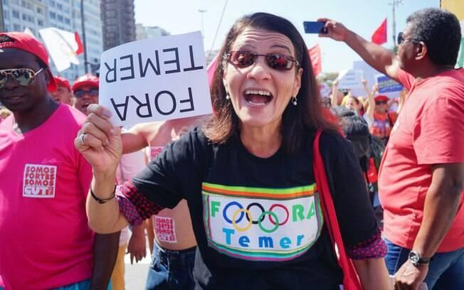 Protesto contra Michel Temer e os Jogos Olímpicos