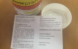 Além da composição, a bula traz ainda a posologia do produto e surpreende ao colocar Jesus Cristo como responsável técnico pelo 'medicamento'. Foto: Carolina Garcia/iG São Paulo