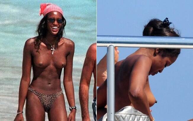 A top inglesa Naomi Campbell não se importa de exibir suas curvas. Foto: Reprodução