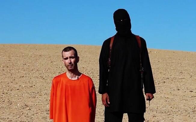 Vídeo do Estado Islâmico mostra a decapitação do britânico David Haines (13/09). Foto: AP