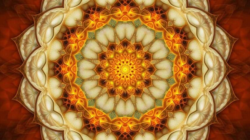 The mandala is designed by astrologer Marcelo Dalla