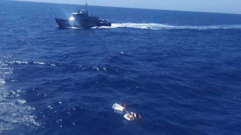 Mother died after being found with children in life raft