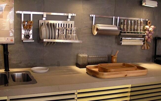 Mveis de concreto decoram ambientes modernos Saiba como usar  Decorao  iG