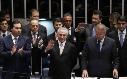 Michel Temer é empossado presidente da República em cerimônia realizada no Congresso Nacional, em Brasília