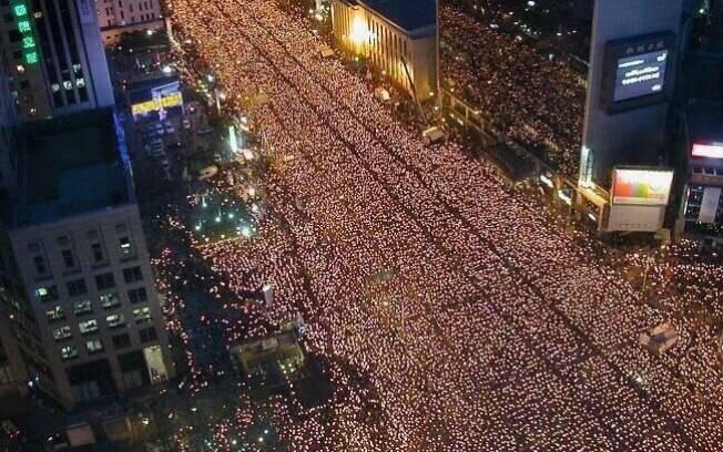 Coreia do SUl - protesto - escândalo
