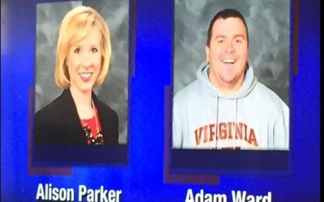 A repórter Allison Parker e o câmera Adam Ward foram mortos por atirador enquanto faziam gravação na Virgínia, EUA