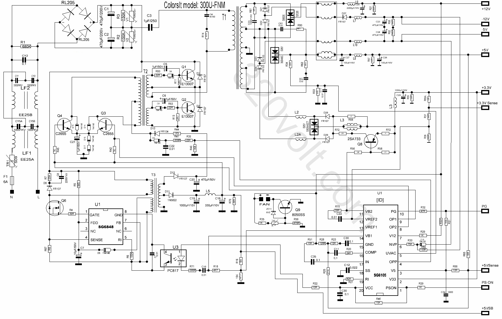 pfc controlled power supply unit repair