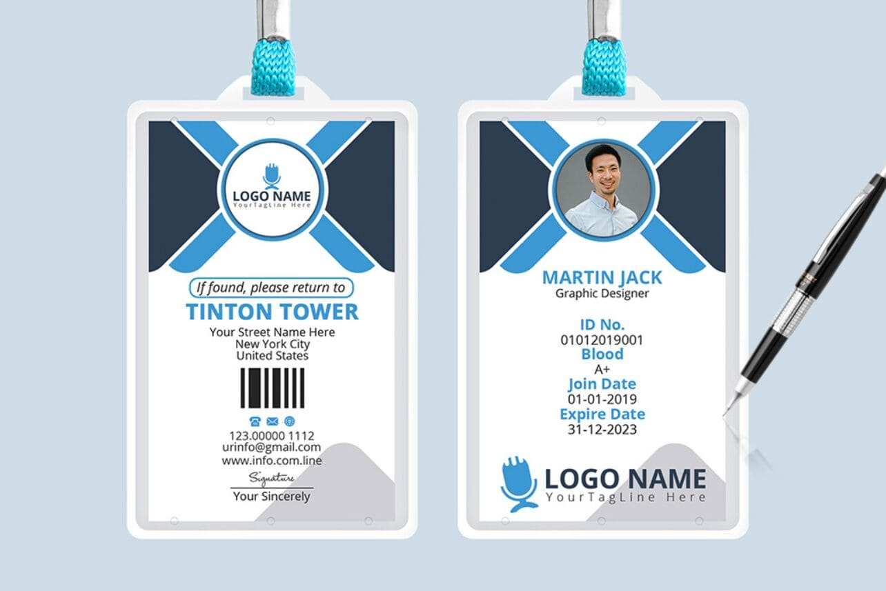 small resolution of office id card design