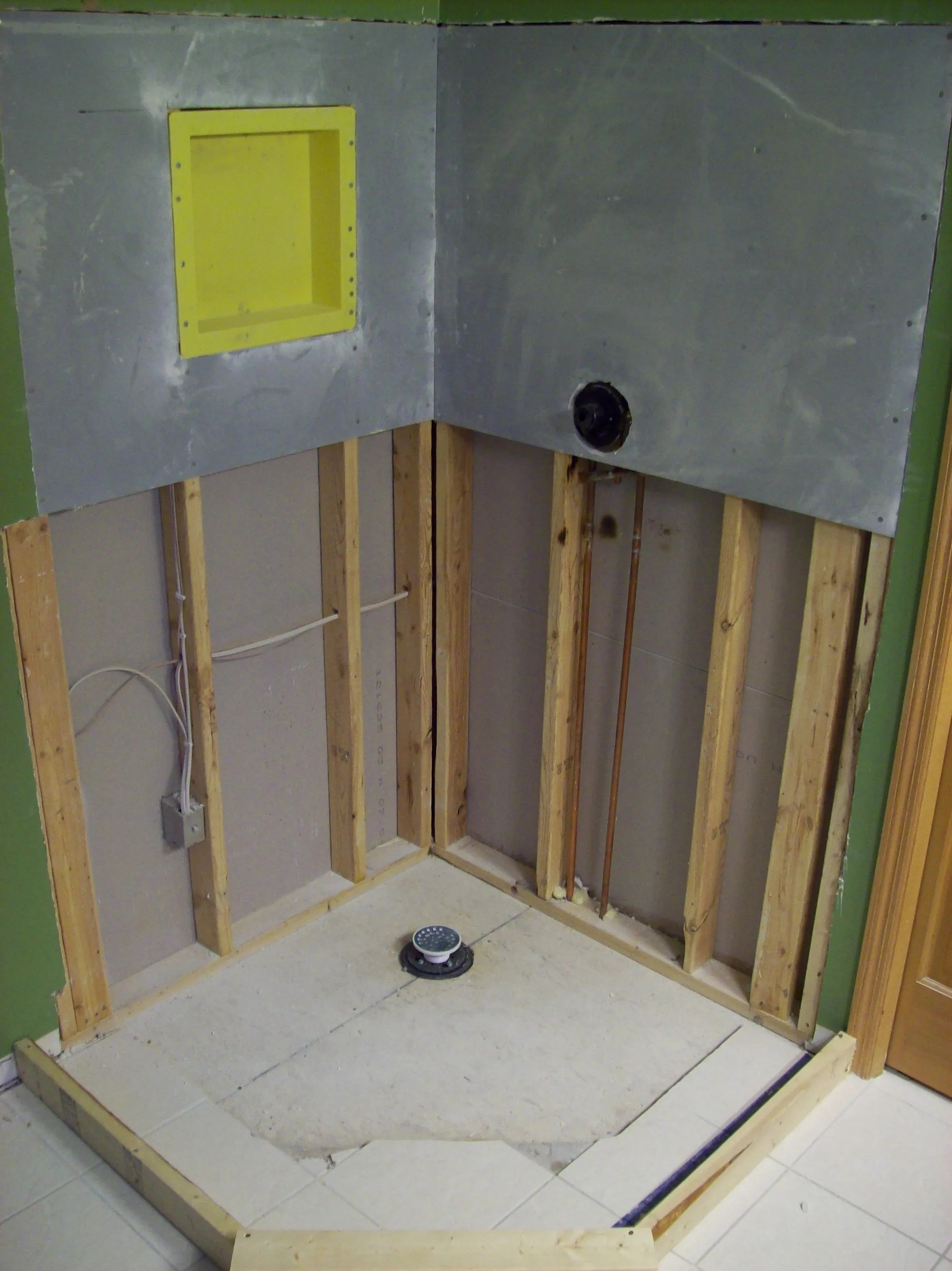 tile shower pan installation step by