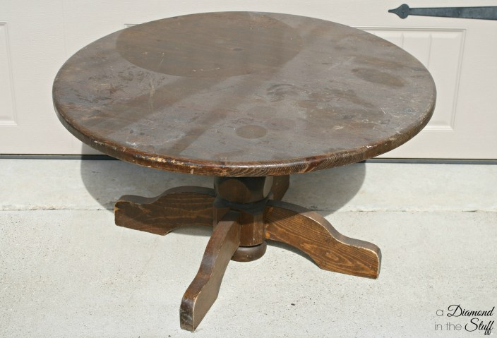 diy round industrial coffee table a
