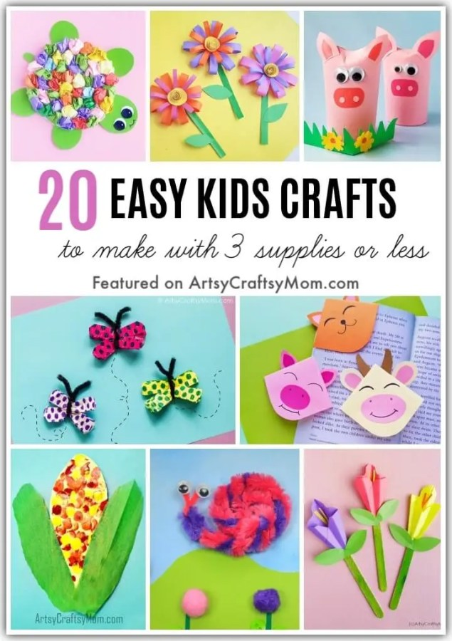 20 Easy Crafts To Make With Three Supplies Or Less